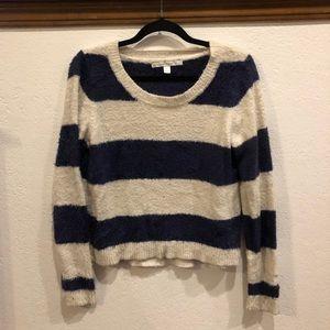 LC Lauren Conrad Navy/Cream Sweater